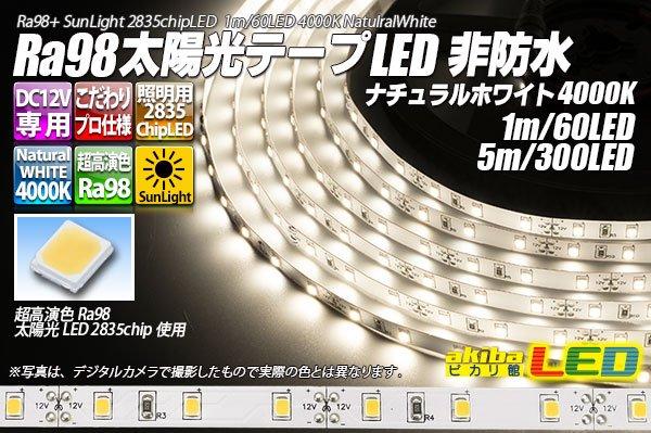 画像1: Ra98 太陽光テープLED 非防水 60LED/m 1-5m (1)