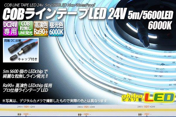 画像1: COBラインテープLED 24V 5m  昼光色6000K 高演色Ra90+ (1)