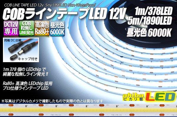 画像1: COBラインテープLED 12V 6000K 1m-5m 高演色Ra80+ (1)