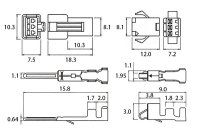 画像1: 細線用3Pコネクター SM-3P