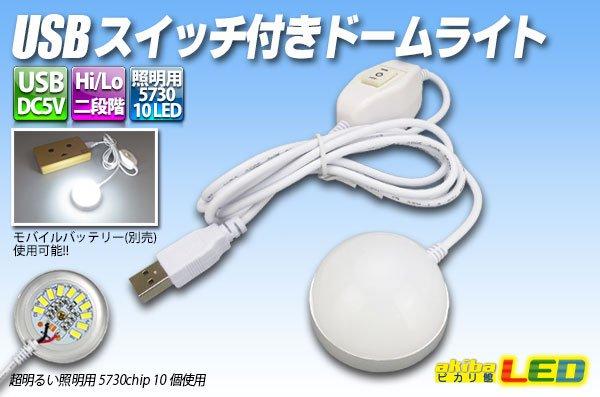 画像1: USBスイッチ付きドームライト (1)